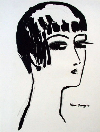 Kees VAN DONGEN - Stampa-Multiplo - Les Cheveux Courts