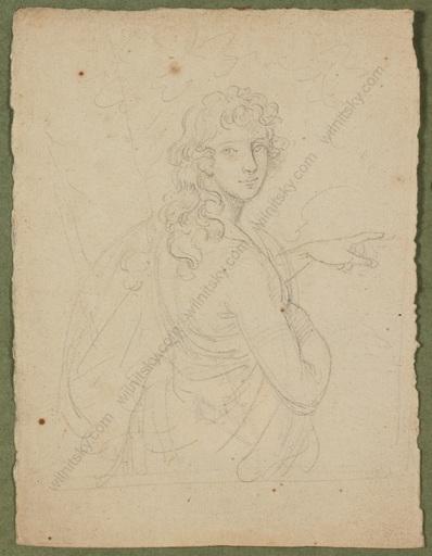 "Johann Baptist I VON LAMPI - Zeichnung Aquarell - ""Portrait Study of a Young Noble Man"""