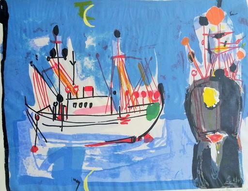 Nahum GUTMAN - Estampe-Multiple - Harbor