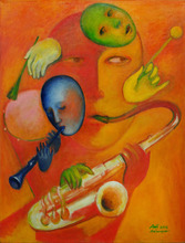Alexander TOKAREV - Pintura - Orange for Winds, from the Man-Orchestra series
