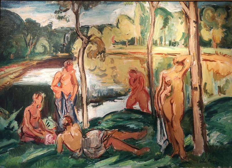 Emile Othon FRIESZ - Painting - Baigneuses sur la Rance