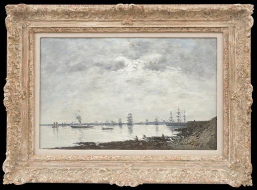 Eugène BOUDIN - Pintura - Brest, Bateaux dans la Rade