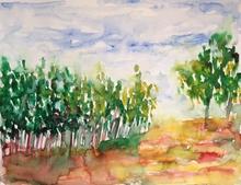 Patricia ABRAMOVICH - Zeichnung Aquarell - Trees