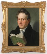 "Eduard RITTER - Pintura - ""Viennese poet Christoph Kuffner"", only known portrait!"