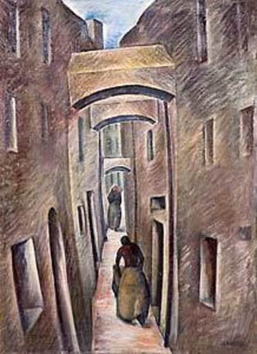Georg Philipp WÖRLEN - Pintura - Passauer Gasse