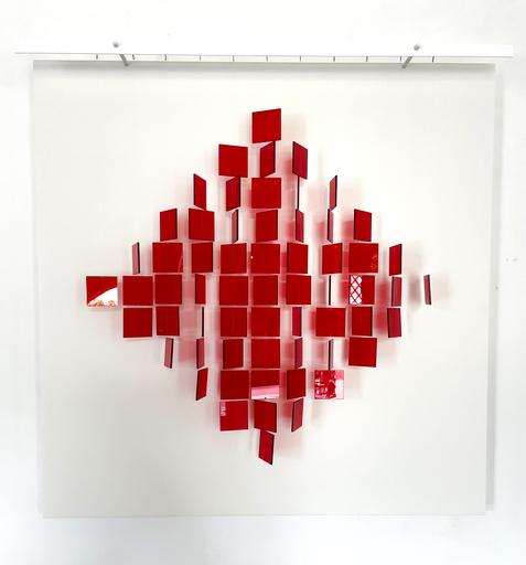 Julio LE PARC - Sculpture-Volume - Mobile losange rouge