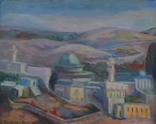 Salomon BERNSTEIN - Painting - Jewish landscape