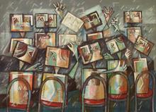 Ibrahim KODRA - Pintura - Dibattito al senato