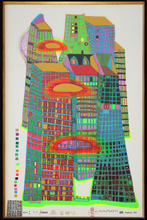 Friedensreich HUNDERTWASSER - Estampe-Multiple - Good morning city - bleeding town