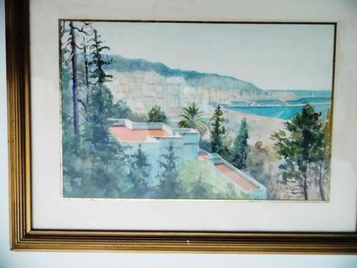 Henri FABRE - Drawing-Watercolor - PORT D ALGER 1936