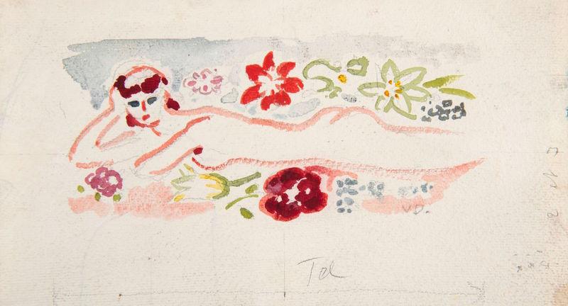 Kees VAN DONGEN - Drawing-Watercolor - Baigneuse