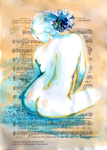 Jacqueline GAGNES-DENEUX - Drawing-Watercolor - FASCINATION 55