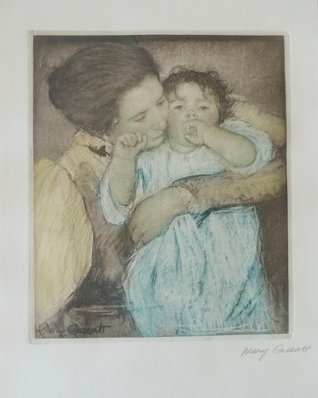 Mary CASSATT - Druckgrafik-Multiple - Mother and child