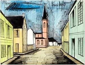 Bernard BUFFET - Drawing-Watercolor - Abacourt