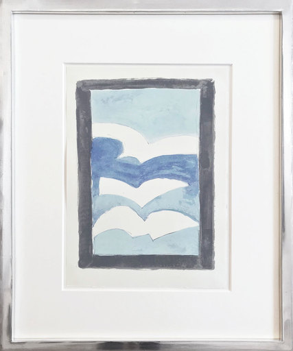 Georges BRAQUE - Print-Multiple - Weiße Vögel über den Wolken