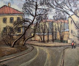 Valeriy NESTEROV - Painting - Aristakhovskiy lane. Moscow