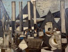 Claude VENARD - Painting - Banlieue (Suburbs)