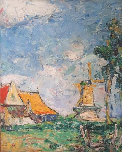 Armand G. G. JAMAR - Peinture - Moulin hollandais