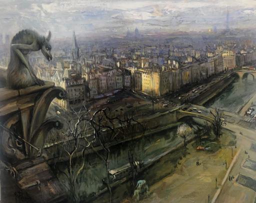 Gilbert PECOUD - Painting - Paris, Gargouille