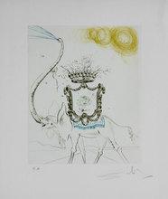 萨尔瓦多·达利 - 版画 - Elephant Royale