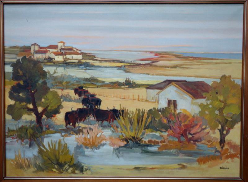 "Éliane THIOLLIER - Pintura - ""CAMARGUE"""