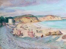 Henri Baptiste LEBASQUE - Painting - La plage de Morgat