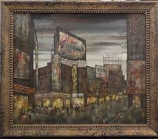 Hugo CASAR - Peinture - NYC Times Square