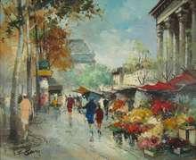 Fernand CLAVER (1918-c.1961) - Paris, La Madelaine