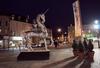 Stanko KRISTIC - Sculpture-Volume - COMEDIE MYTHOLOGIQUE, licorne chevauchée avec la Reine Sirèn