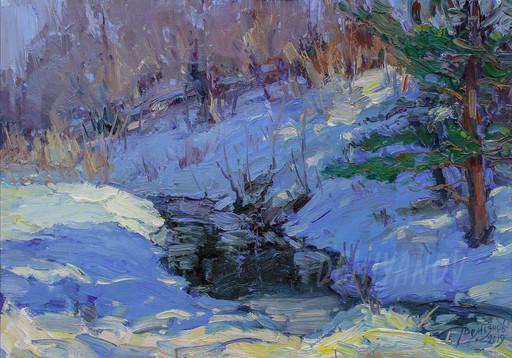 Yuriy DEMIYANOV - Gemälde - Ruisseau dans la forêt