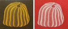 Yayoi KUSAMA - Print-Multiple - Yellow Colored Pumpkin & Red Colored Pumpkin