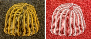 Yayoi KUSAMA - Stampa Multiplo - Yellow Colored Pumpkin & Red Colored Pumpkin