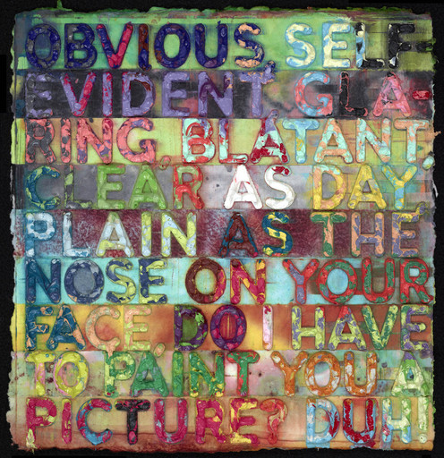 Mel BOCHNER - Pittura - Obvious