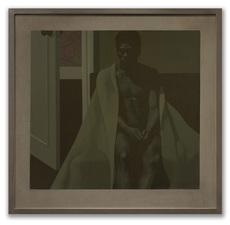 Michael LEONARD - Painting - Leroy in a Blanket III