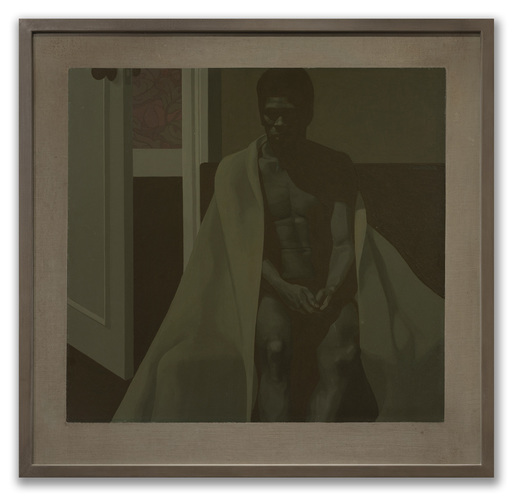 Michael LEONARD - Painting - Leroy in a Blanket III
