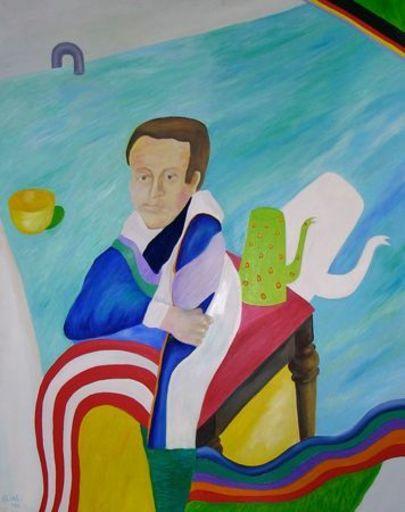 Etienne ELIAS - Painting - Portret van Elias' vriend