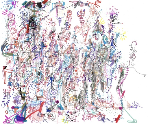 Michael ALAN - Drawing-Watercolor - Walking Fire