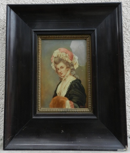 George ROMNEY - Peinture - Mrs Mary Darby Robinson - Actress 1758-1800