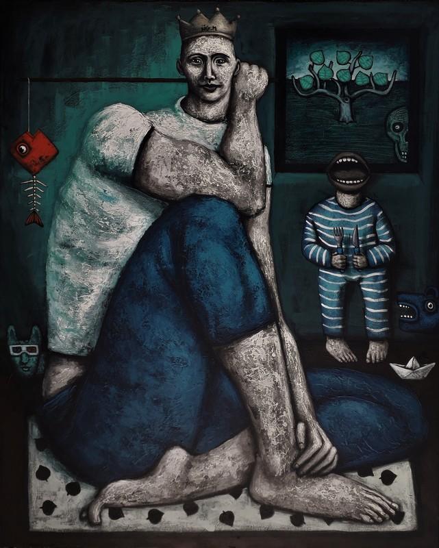 Nicolas MONJO - Pintura - La cour