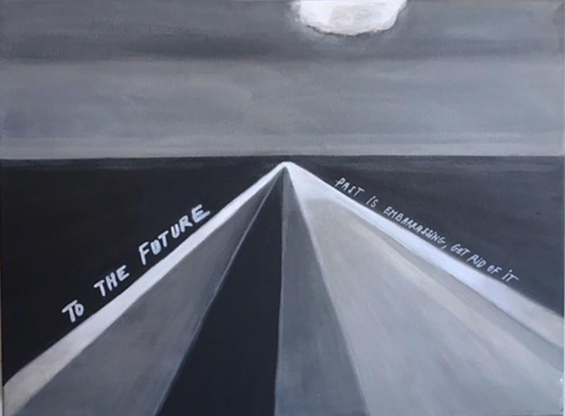 Vivi HERREBOUDT - Painting - To the Future    (Cat N° 6574)