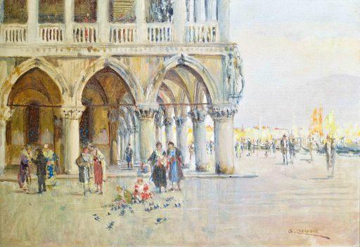 Giuseppe CHERUBINI - Painting - Angolo di P.za S. Marco - Venezia