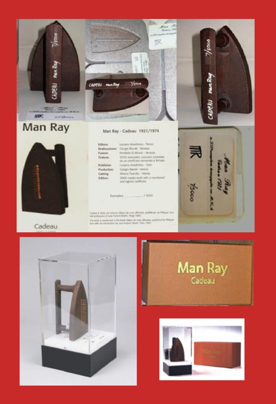 MAN RAY - Scultura Volume - CADEAU 1921- 1974