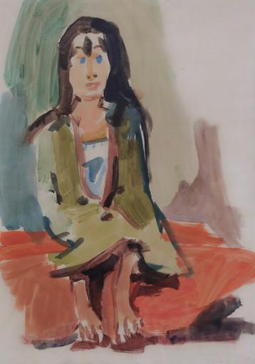 Oskar KOKOSCHKA - Drawing-Watercolor - Gypsy Girl