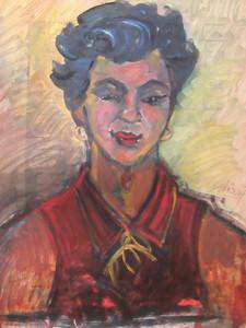 André ABEASIS - Painting - Portrait