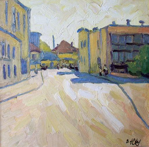 Valeriy NESTEROV - Peinture - Sretenskiy lane. Moscow
