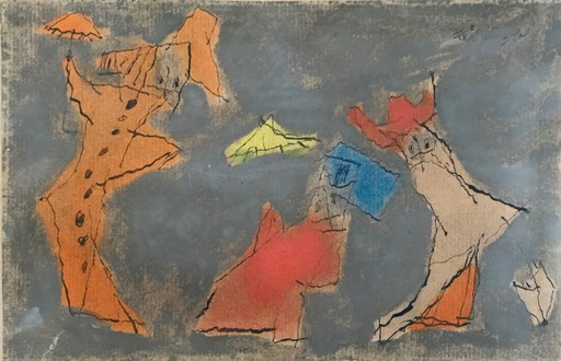Lyonel FEININGER - Dibujo Acuarela - The Three Ghosts