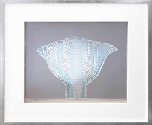 Heinz MACK - Druckgrafik-Multiple - Silberfächer Blau