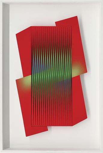 Alberto BIASI - 雕塑 - Avvinghiato dal rosso