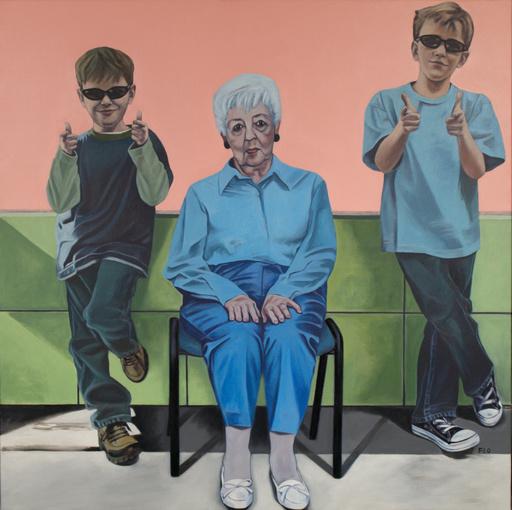 Flo JAOUEN - Painting - « Qu'est-ce qu'on attend ? #7 »