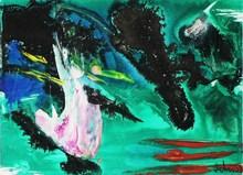 """Gérard Ernest SCHNEIDER - Painting - """"Voeux 1962"""""""